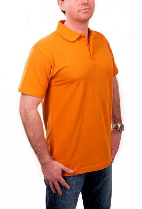 KringsFashion® Herren-Poloshirt Fine Line, Farbe curry