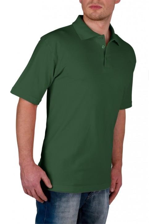 KringsFashion® Herren-Poloshirt Fine Line, Farbe dunkelgrün