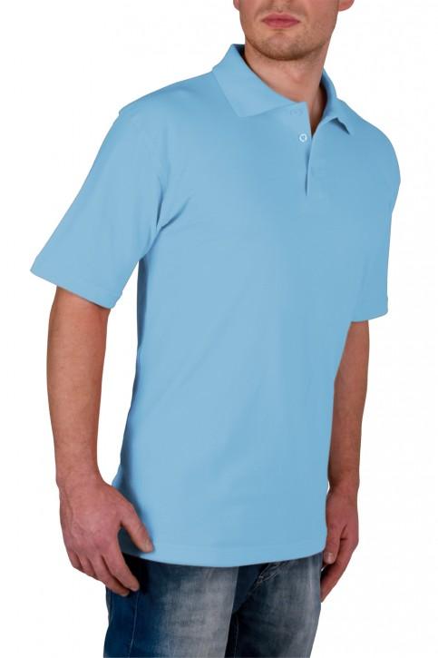 KringsFashion® Herren-Poloshirt Fine Line, Farbe hellblau