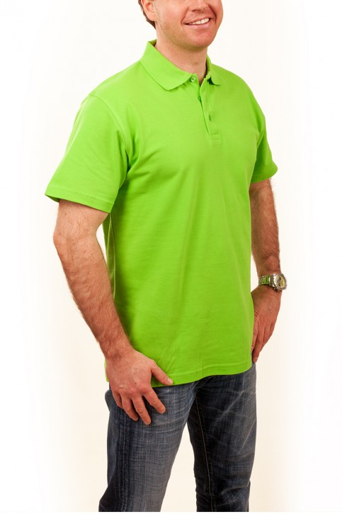 KringsFashion® Herren-Poloshirt Fine Line, Farbe lime