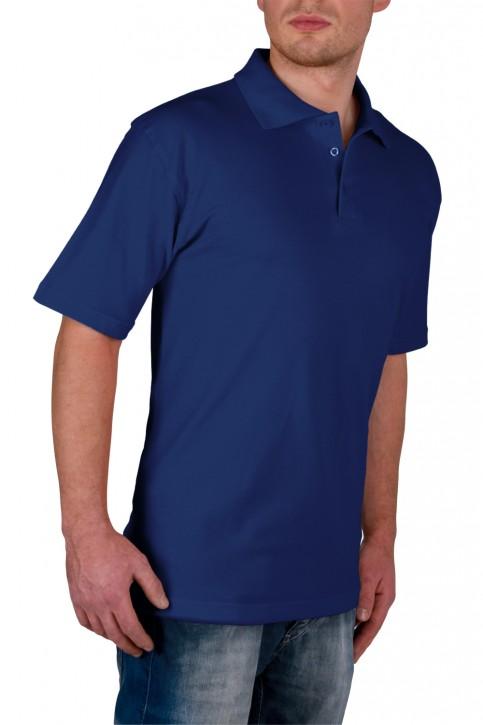 KringsFashion® Herren-Poloshirt Fine Line, Farbe navy