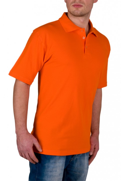 KringsFashion® Herren-Poloshirt Fine Line, Farbe orange
