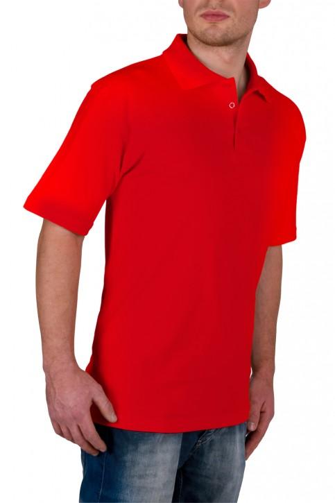 KringsFashion® Herren-Poloshirt Fine Line, Farbe rot