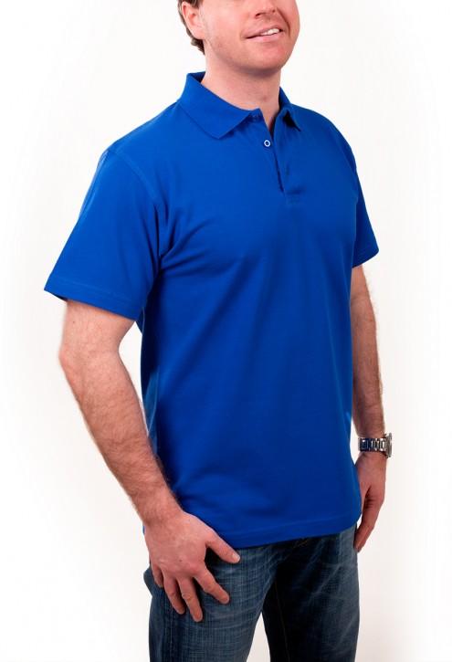 KringsFashion® Herren-Poloshirt Fine Line, Farbe royal