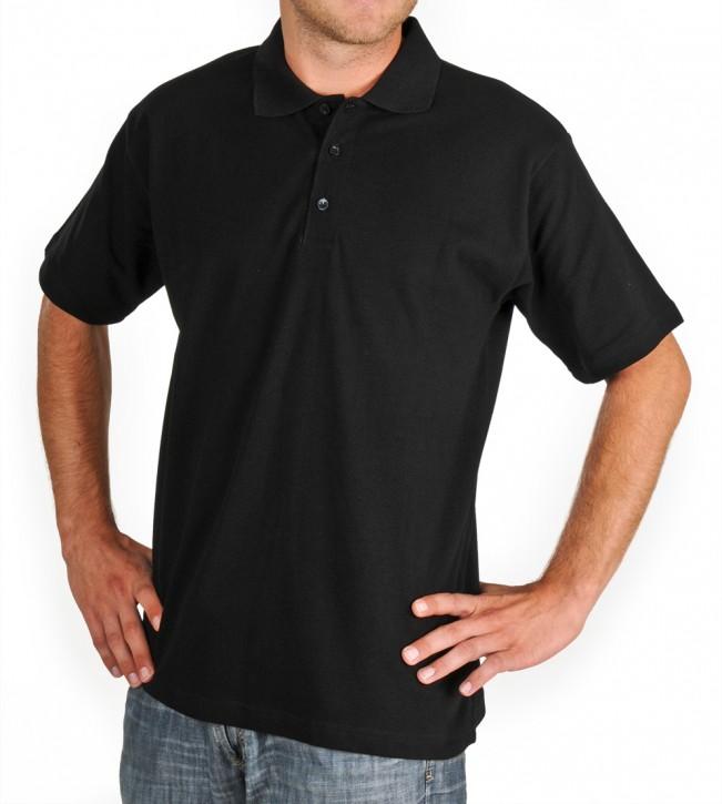 KringsFashion® Herren-Poloshirt Fine Line, Farbe schwarz