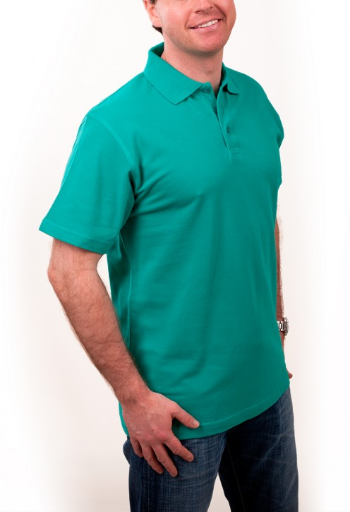 KringsFashion® Herren-Poloshirt Fine Line, Farbe smaragd