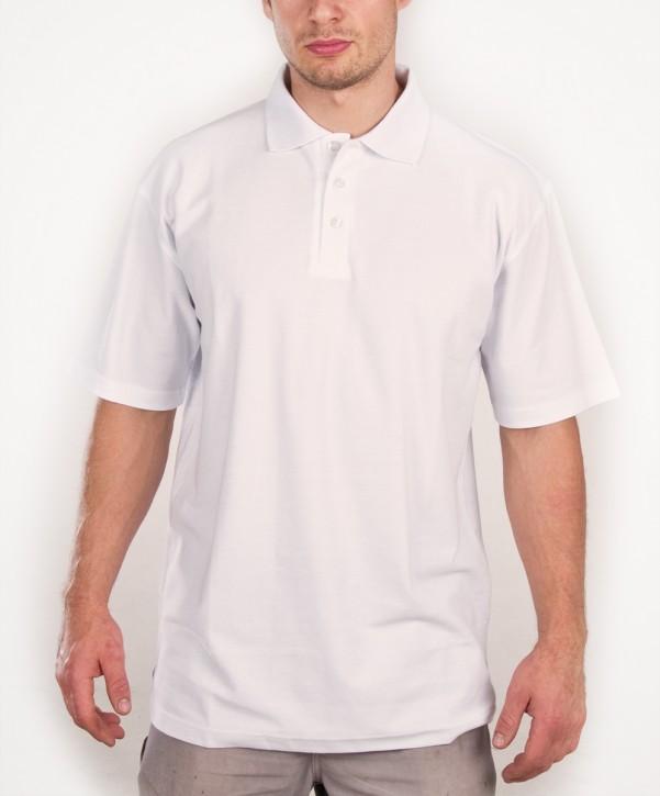 KringsFashion® Herren-Poloshirt Fine Line, Farbe weiß