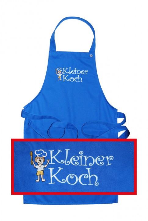 """Kinder-Latzschürze """"Kleiner Koch"""", 2 blau-Töne zur Auswahl"""