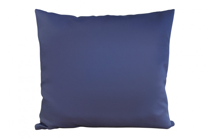 Kissen 40x40 cm unifarben marineblau - (Kombi-Kissen) made in germany