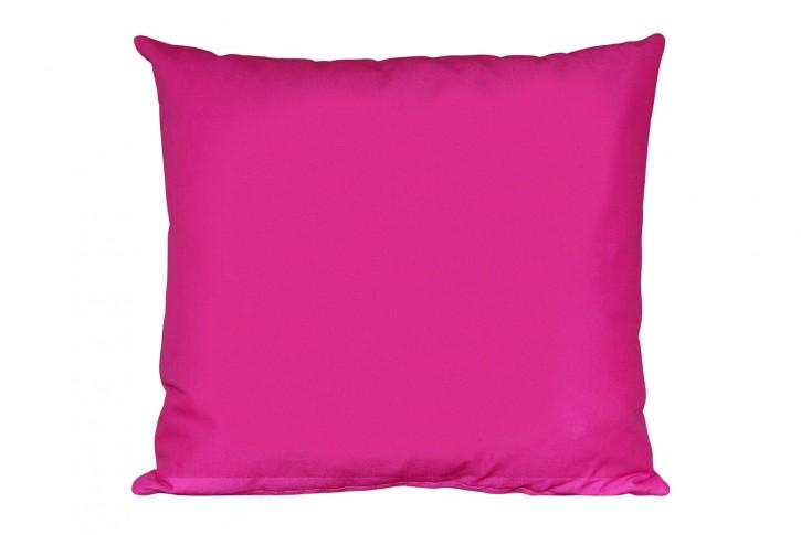 Kissen 40x40 cm unifarben pink / rosa - (Kombi-Kissen) <br> made in germany
