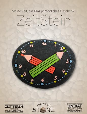 Zeit Stein Motiv Stifte