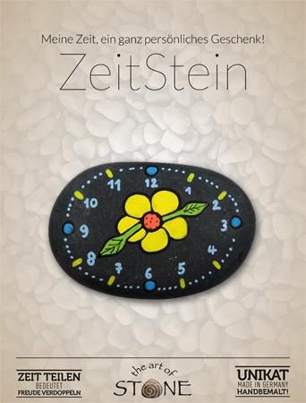 Zeit Stein Motiv Blume