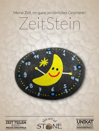Zeit Stein Motiv Mond