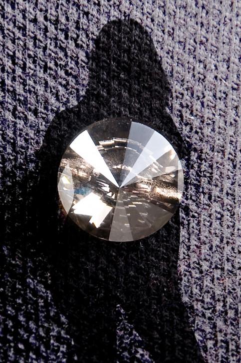 KringsFashion® Swarovski-Poloshirt, Farbe schwarz oder bordeaux, mit original Swarovski-Steinen und -Knöpfen