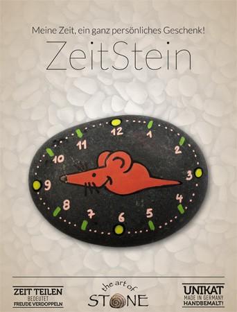 Zeit Stein Motiv 12 Maus