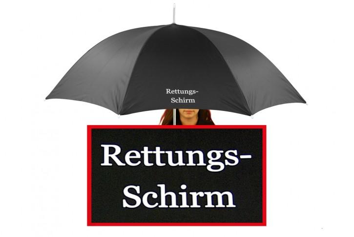 Regenschirm mit Name / eigenem Text bedruckt individualisiert, schwarz
