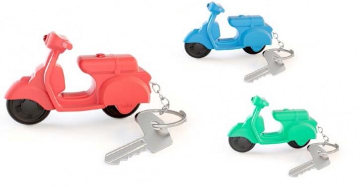 Schlüsselanhänger Scooter in blau