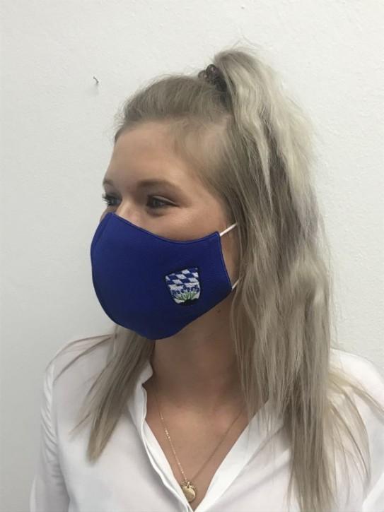 Alltagsmaske, Behelfsmaske mit Einstickung Wappen-Stadt Plattling