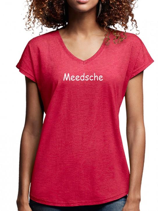 T-Shirt mit Spruch - Meedsche - Hessisch Damen Rot-mel.