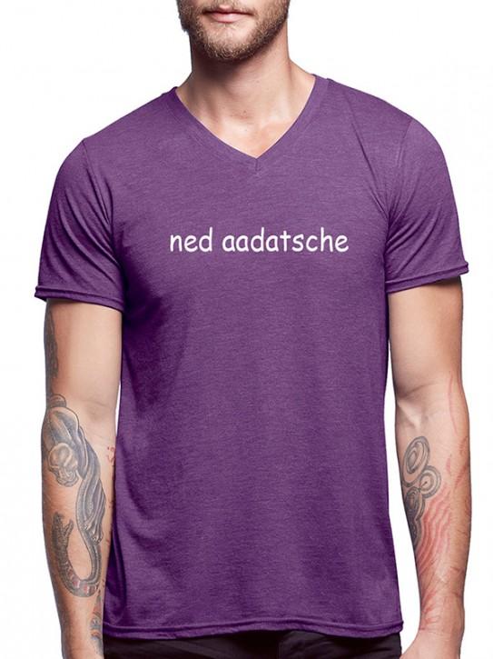 T-Shirt mit Spruch - ned aadatsche - Hessisch Herren Aubergine-mel.