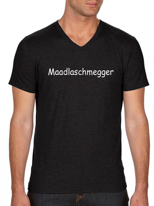 T-Shirt mit Spruch - Maadlaschmegger - Fränkisch Herren Schwarz