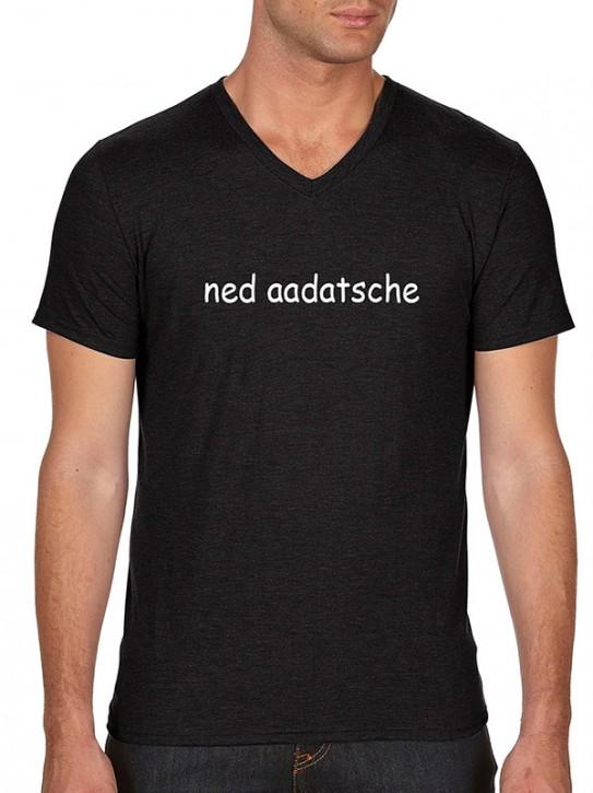 T-Shirt mit Spruch - ned aadatsche - Hessisch Herren Schwarz