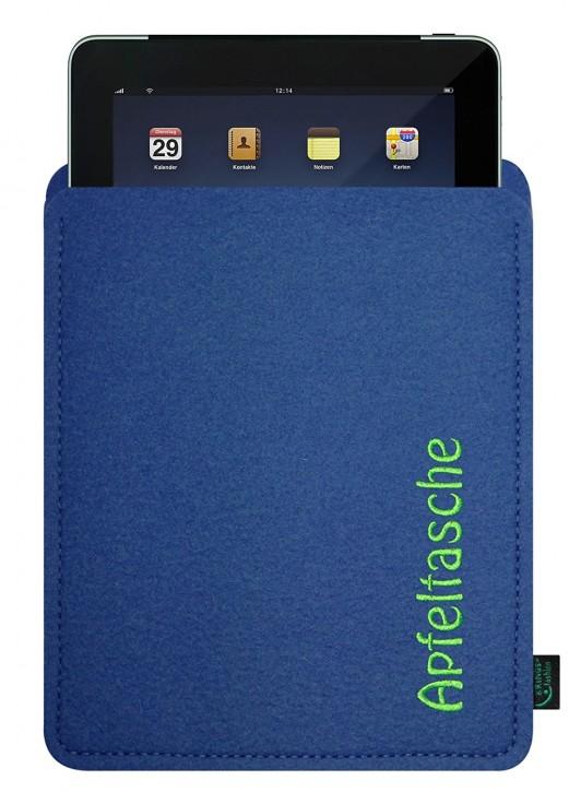 iPad 4 Tasche/Hülle Apfeltasche Filz Blau