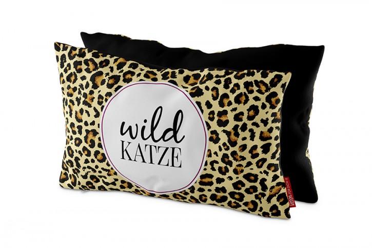 Kissen (23 x 40 x 13 cm) - Wildkatze
