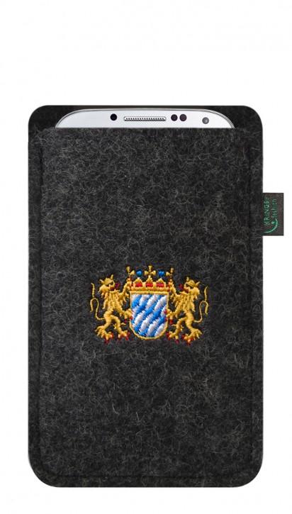 Tasche/Hülle Bayern Wappen Filz Farbe zur Auswahl - Wähle Smartphone