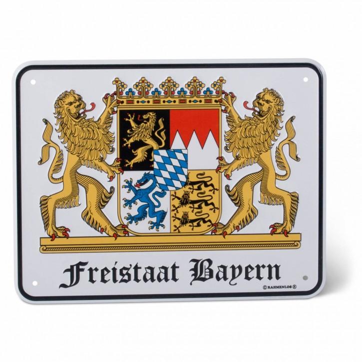 "Blechschild ""Freistaat Bayern"""