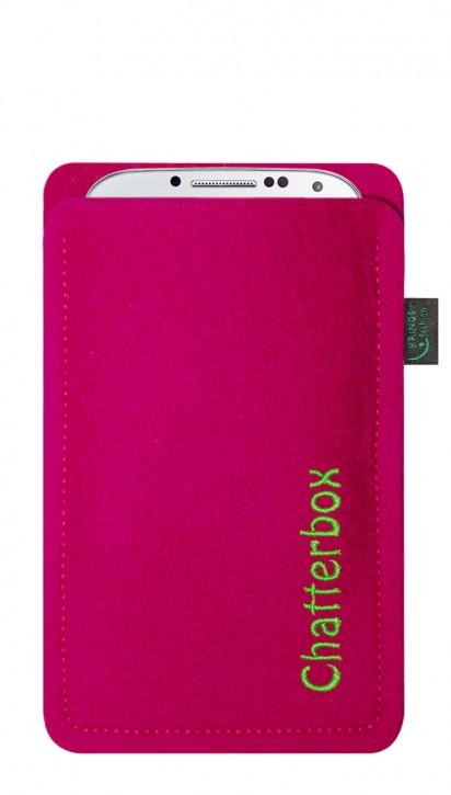 Tasche/Hülle Chatterbox Filz Farbe zur Auswahl - Wähle Smartphone