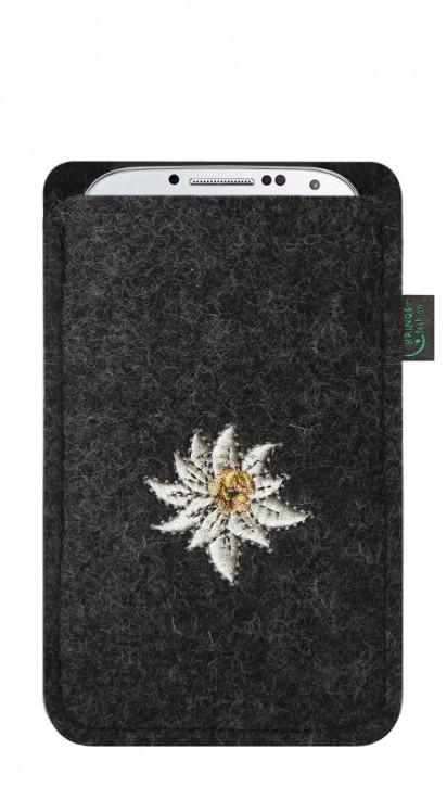 Tasche/Hülle Edelweiß Filz Farbe zur Auswahl - Wähle Smartphone