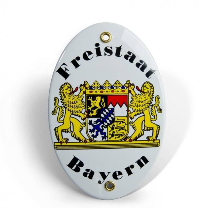 """Emaille-Schild """"Freistaat Bayern"""""""