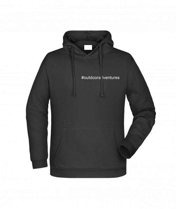 Krings Fashion Herren Kapuzen-Sweatshirt Hoodie, schwarz, bedruckt mit Hashtag oder nach Wunsch