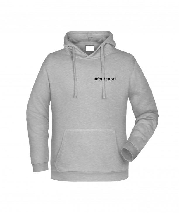 Krings Fashion Herren Kapuzen-Sweatshirt Hoodie, heather-grey, bedruckt mit Hashtag oder nach Wunsch