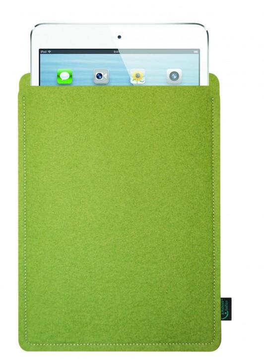 iPad mini 4 Tasche/Hülle blanko Filzfarbe lime