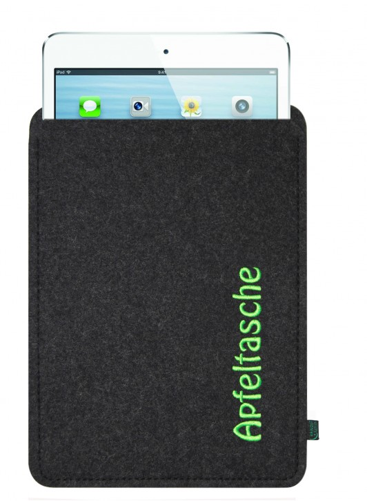 iPad mini 4 Tasche/Hülle Apfeltasche Filz anthrazit