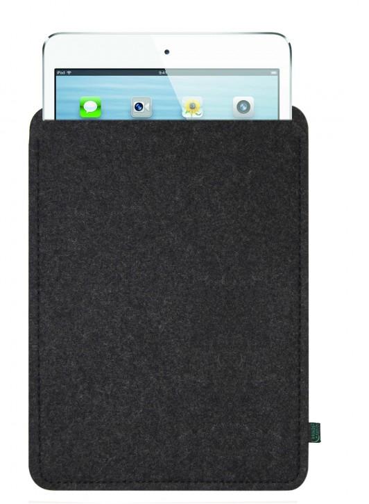 iPad mini 4 Tasche/Hülle blanko Filz anthrazit