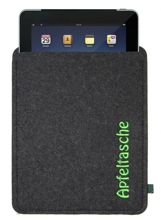 iPad 4 Tasche/Hülle Apfeltasche Filz anthrazit