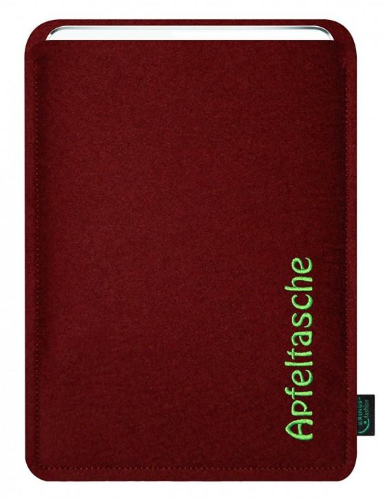 iPad mini 4 Tasche/Hülle Apfeltasche Filz bordeaux