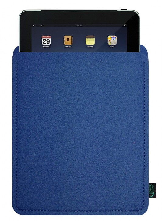 iPad mini 4 Tasche/Hülle blanko Filz blau