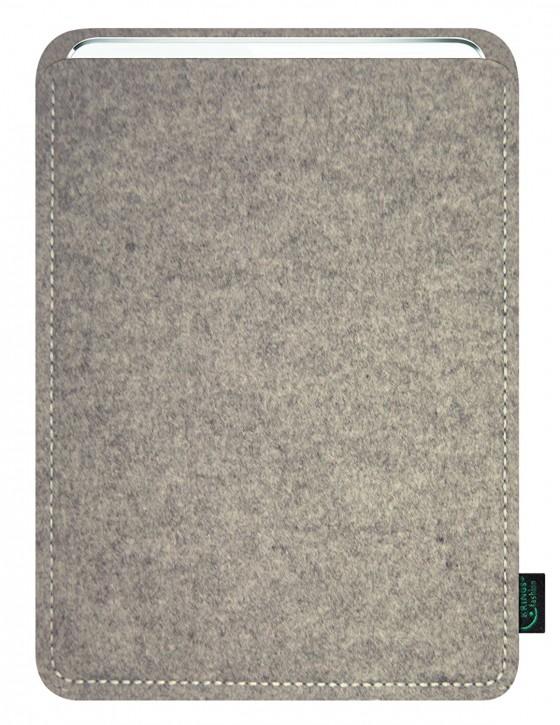 iPad mini 4 Tasche/Hülle blanko Filz hellgrau