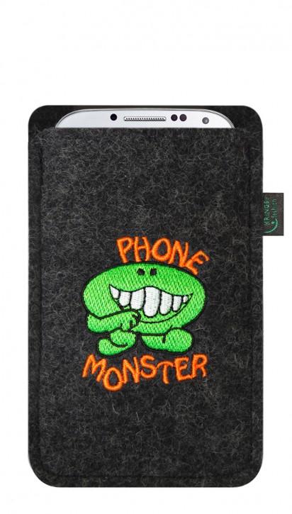 Tasche/Hülle Phonemonster Filz Farbe zur Auswahl - Wähle Smartphone