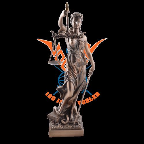 Römische Justitia bronziert