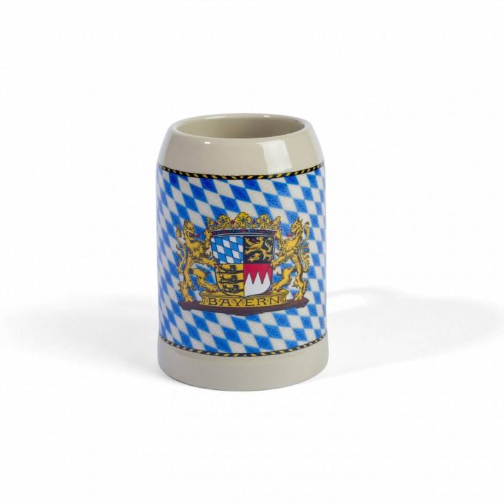 Steinkrug mit Bayern-Rauten