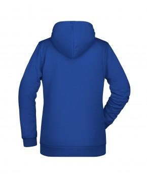 Krings Fashion Damen Kapuzen-Sweatshirt Hoodie, dark-royal, bedruckt mit Hashtag oder nach Wunsch