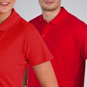 KringsFashion® Damen-Poloshirt Fine Line, tailliert, Farbe rot