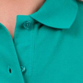 KringsFashion® Damen-Poloshirt Fine Line, tailliert, Farbe smaragd