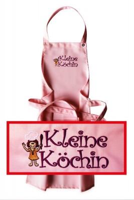 """Kinder-Latzschürze """"kleine Köchin"""", 3 rosé-Töne zur Auswahl"""
