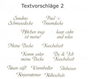 Kuscheldecke mit Namen 150 x 200 cm, braun, Stickfarbe/Name zur Auswahl